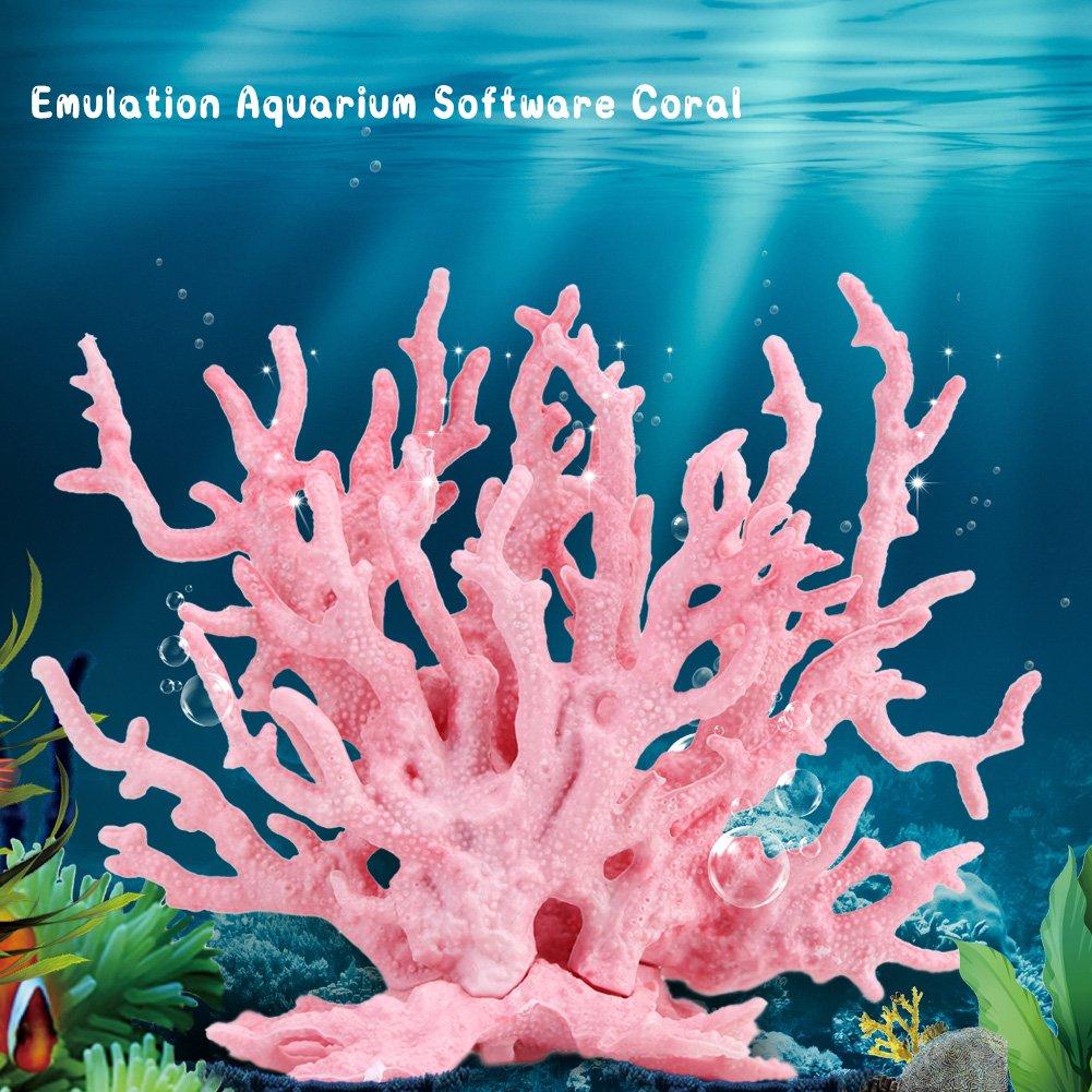 Planta de Coral Artificial Azul l pl/ástico Vivo Adorno de Planta de Coral Artificial para Acuario Submarino Fish Tank Garden Lands