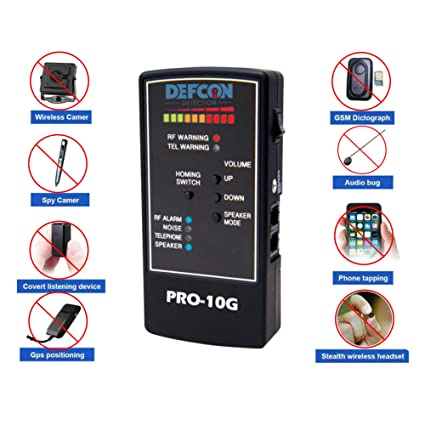 DefCon Security Products PRO-10G GPS Tracker Finder and Law-Grade Counter Surveillance Bug