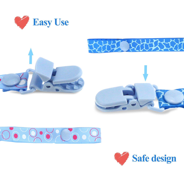 Blue Philonext 5 paquete de chupete dentici/ón chupete clip para beb/é reci/én nacido