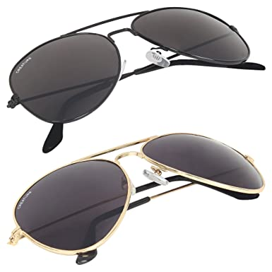 ce55f7db542 Creature Uv Protection Aviator Unisex Sunglasses Combo(Sun-004-005 ...