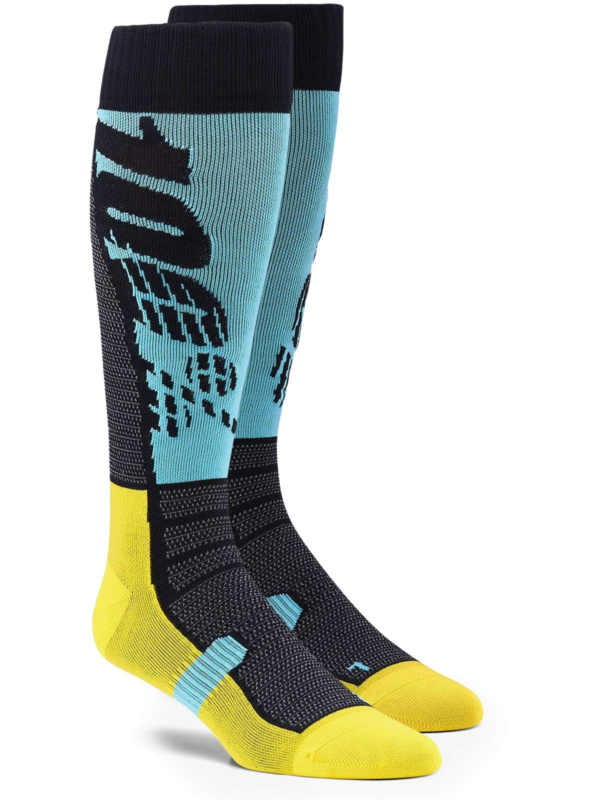 100% Adults Hi Side Performance Moto Socks (Cyan, L XL) by Unknown