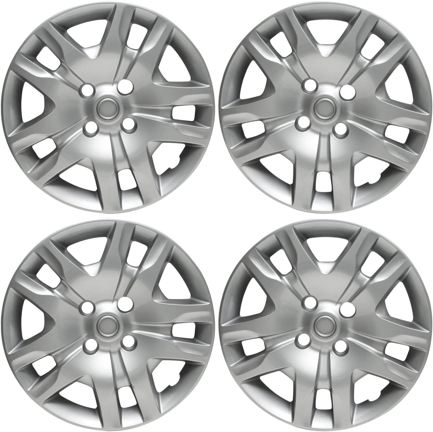 Silver 16 Bolt On Hub Cap Wheel Covers For Nissan Sentra Set Of 4 Hubs Spindles Amazon Canada