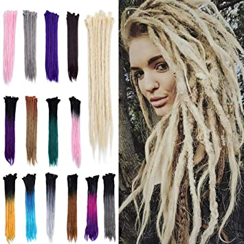 Amazoncom 20 Dreadlock Extension Ombre For Hip Hop Synthetic