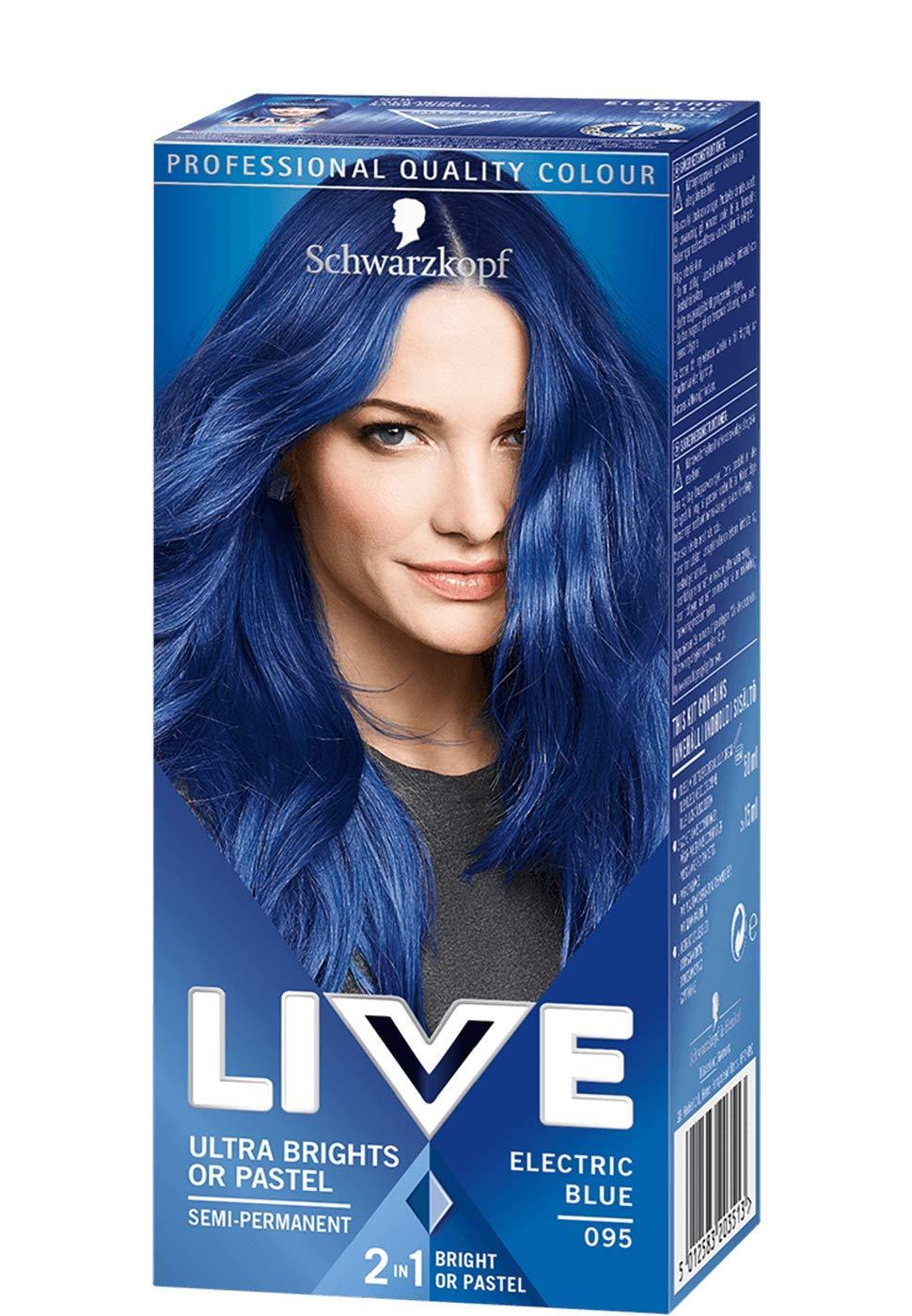Schwarzkopf Live Ultra Brights 095 Electric Blue Hair Dye