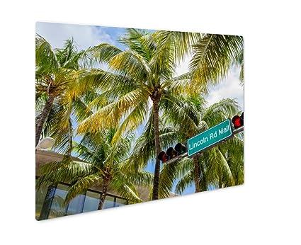 Amazon.com: Ashley Giclee Metal Panel Print, Miami Beach, Wall Art ...
