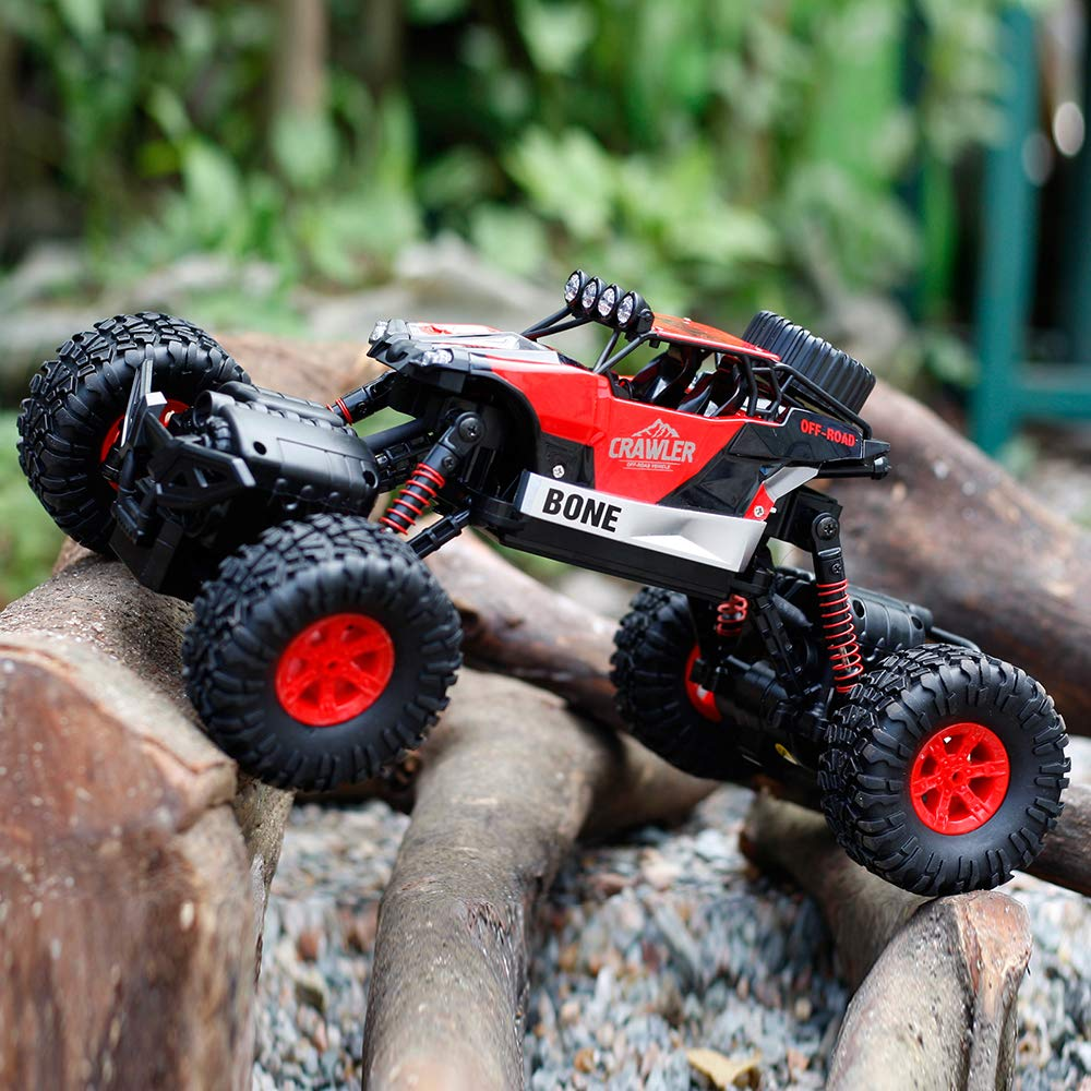 Gizmovine RC Cars 4WD Rock Crawler Large Size Boys Remote Control Cars and Trucks 2.4Ghz Transformer Toy Electronic Monster Truck R/C Off Road for Kids, 2019 Update Version (Red) by Gizmovine (Image #3)