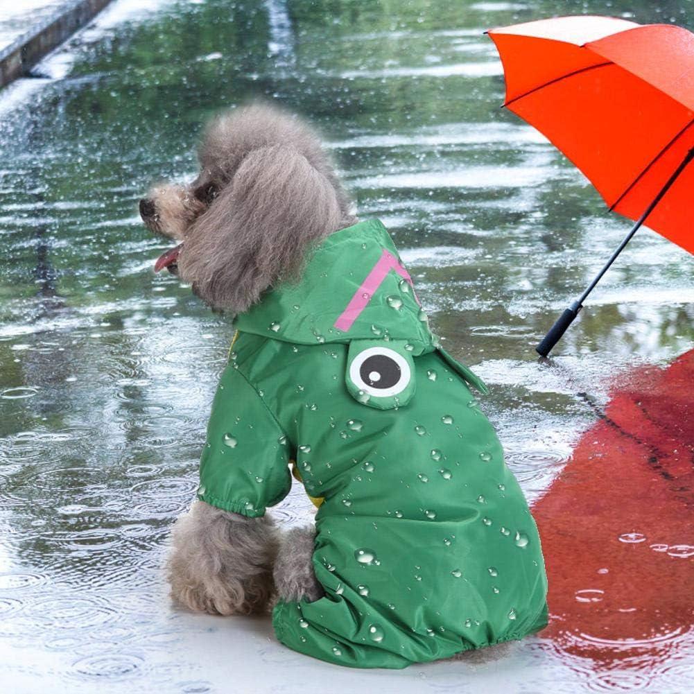 Pssopp Hunde Regenmantel Haustier wasserdichte Regenjacke Haustier Regenmantel Outdoor Hundemantel Hundejacke Regenjacke mit Kapuze f/ür Kleine Mittlere Hunde
