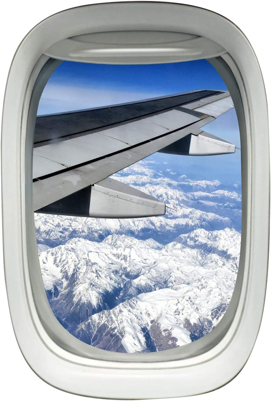 Amazon Com Airplane Window Porthole Wing Decal Sky View Clouds