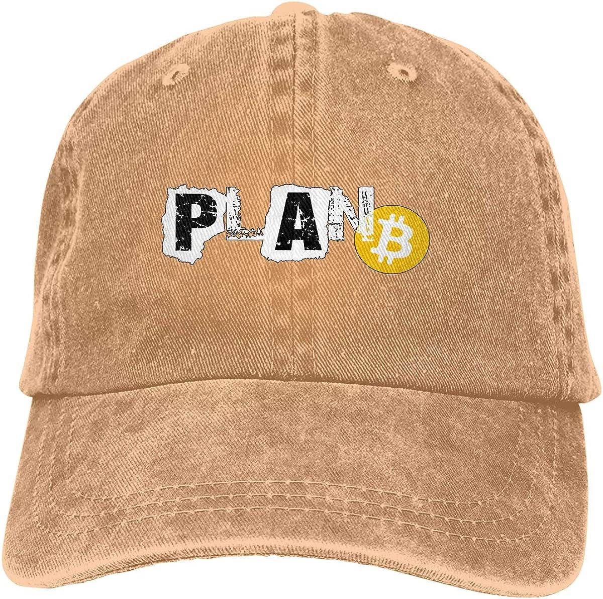 Plan B Vintage Washed Dad Hat Funny Adjustable Baseball Cap Men Women Bitcoin