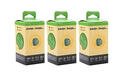 Dog Poop Bag Dispenser with Countdown Poop Bags Set Unscented or Orange Scent