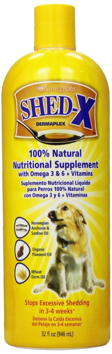 Amazon.com: SHED-X DERMAPLEX SynergyLabs Shed X Dog (2 Pack), 32 oz: Sports & Outdoors