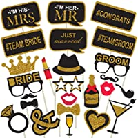 Party Propz Bachelorette Theme Photobooth Props (Set of 25) for Wedding Photo Booth Props