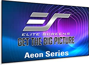 Elite Screens Aeon Series, 100-inch 16:9, 8K / 4K Ultra HD Home Theater Fixed Frame Edge Free Borderless Projector Screen, CineWhite Matte White Front Projection Screen, AR100WH2