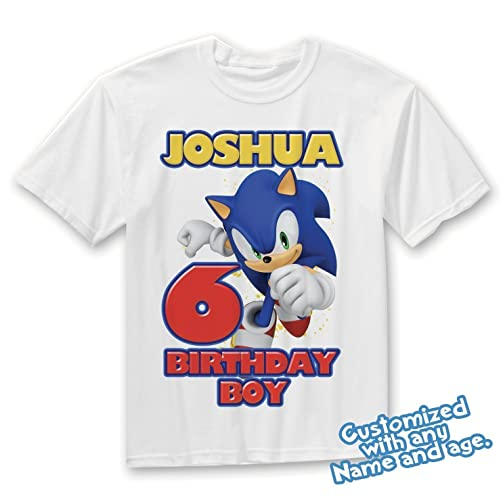 Sonic Birthday Shirt Customized Name And Age Personalized Shirts Family