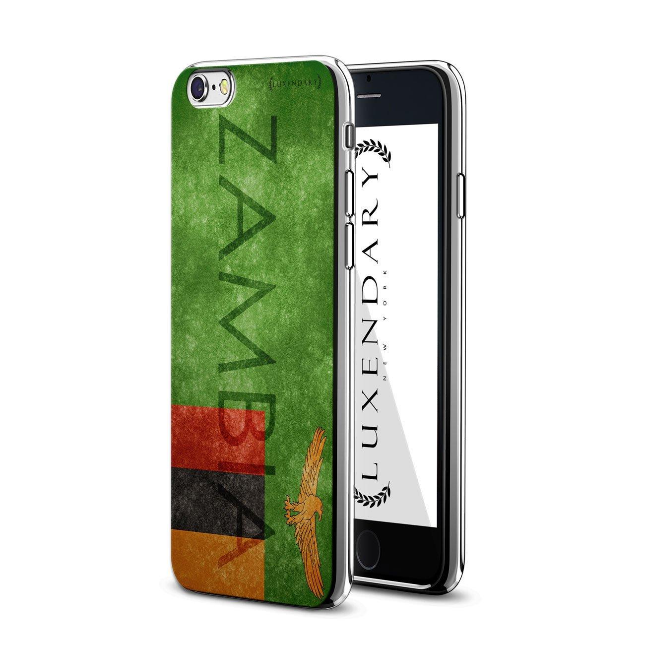 iPhone 6 / 6S Plus用Luxendary LUX-I6PLCRM-ZAMBIA1ザンビアフラッグデザインクロームシリーズケース   B01N2X2DDG