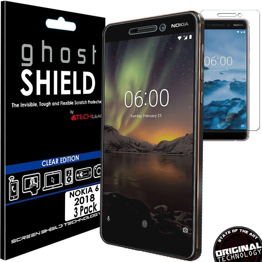 TECHGEAR [3 Piezas Protector de Pantalla Compatible con Nokia 6 ...