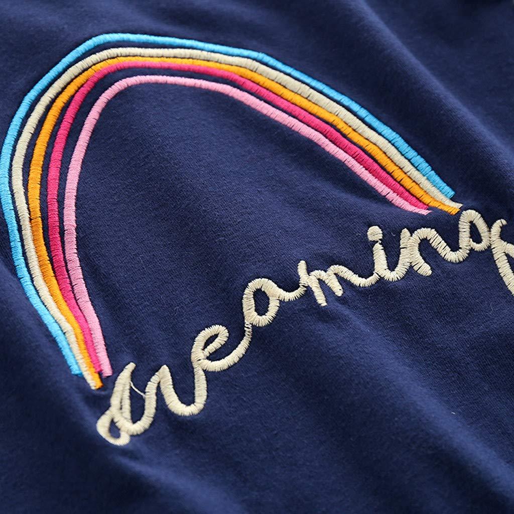 Bekleidung TTLOVE Kinder Baby Jungen M/ädchen Kleidung Regenbogen Brief Tops Hosen Outfits Set,s/ü/ß und cool Baumwolle Kleider Set Unisex Babykleidung