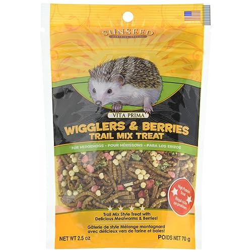 Sunseed Company Vita Prima Hedgehog Treat-Wigglers & Berries 2.5 Ounce