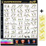 Eazy How To Suspension Cables Exercise Workout TRX Poster BIG 51 x 73cm Train Endurance, Tone, Build Strength & Muscle Home Gym Chart
