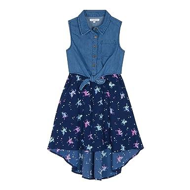 0a95ffdb2cc4 bluezoo Kids  Girls  Multi-Coloured Unicorn Print Denim Dress ...