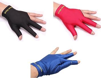ZXJOY - Guantes de billar con 3 dedos para hombre y mujer, para mano izquierda, 3 piezas, A: Amazon.es: Deportes y aire libre