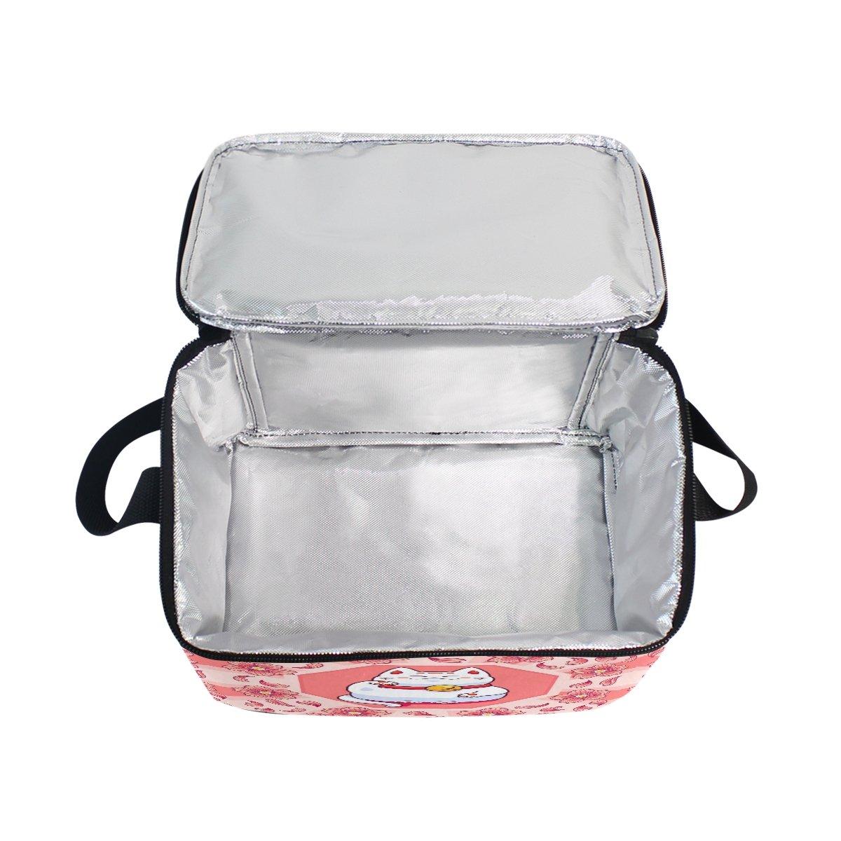 ALAZA Penguin Insulated Lunch Bag Box Cooler Bag Reusable Tote Bag Outdoor Travel Picnic Bag with Shoulder Strap for Women Men Adults Kids