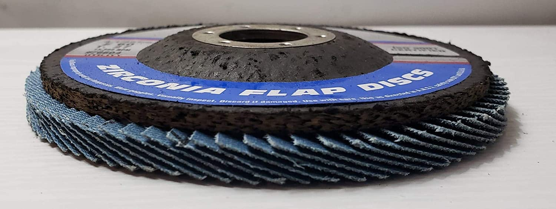 Random Products 4 1//2 x 7//8 Type 27 Zirconia Flap Disc 10 Pack 60 Grit