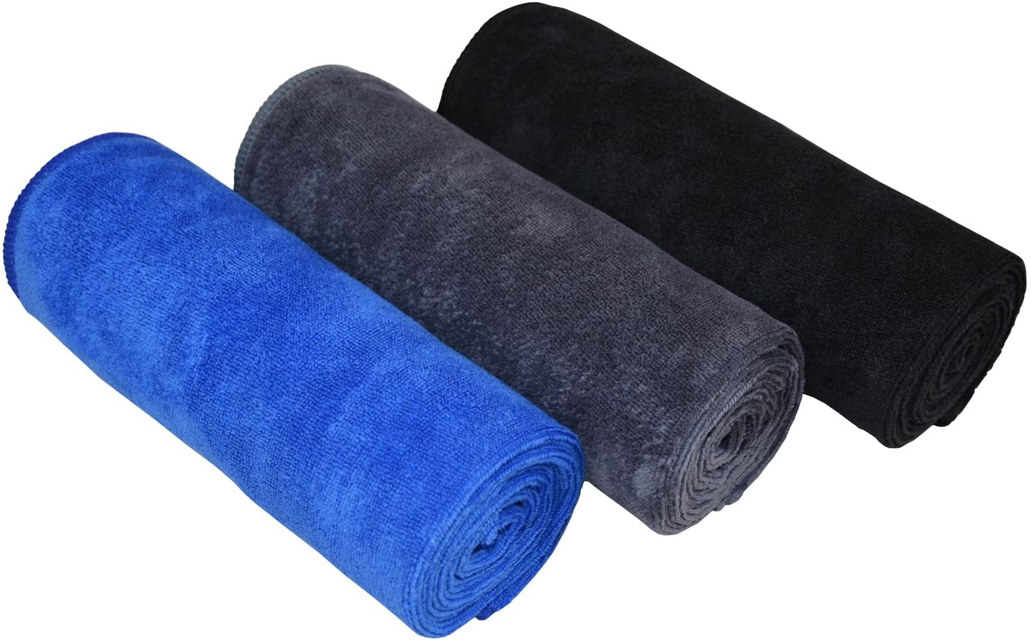Hemoton 6pcs Soft Microfiber Towel Fast Drying Absorbent Towel for Sports Yoga Gym Fitness and More 30x30cm Mixed Color