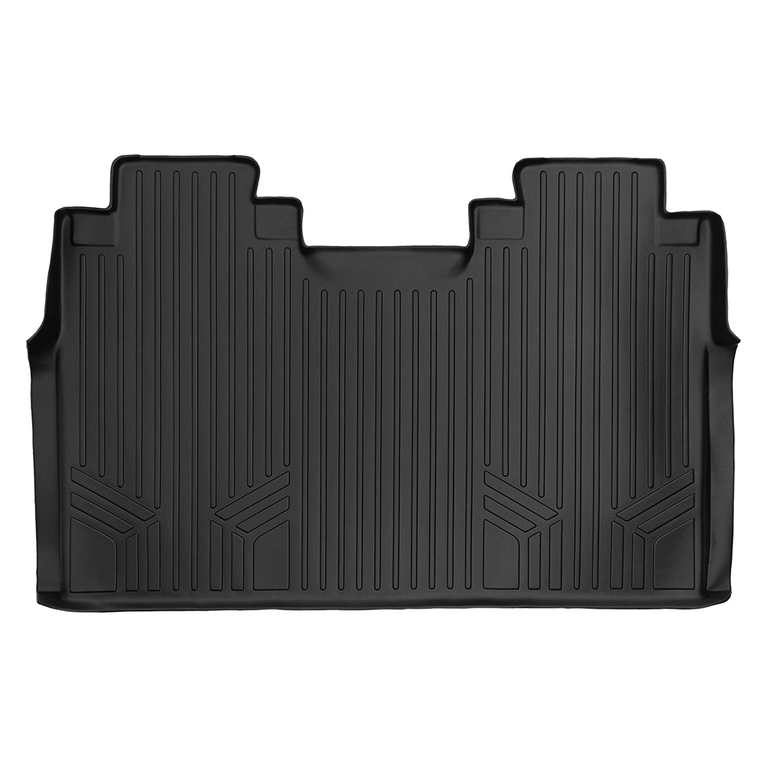 MAXLINER B0188 Floor Mats for Ford F-150 Super Crew with Front Bench Seats, 2015-2017 2nd Row, Black