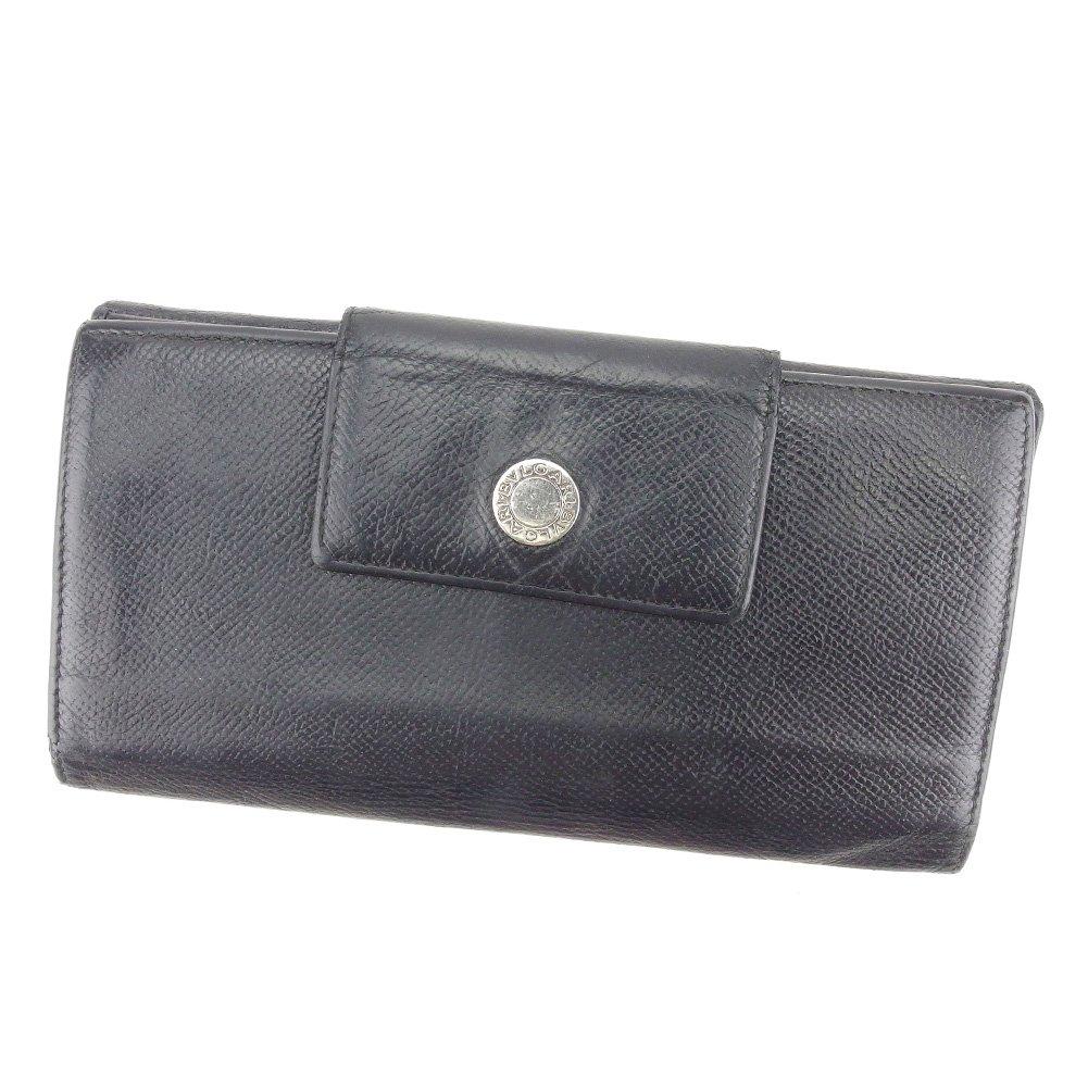(ブルガリ) Bvlgari 長財布 Wホック ブラック ブルガリブルガリ レディース メンズ 可 中古 T4948   B078P7PX3B