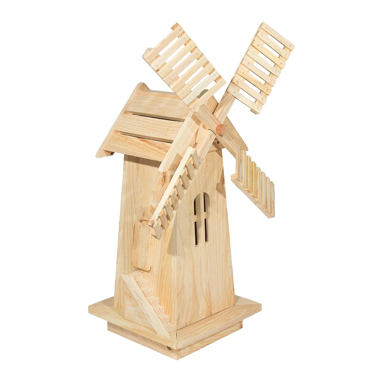 Amazon.com : Shine Company Decorative Windmill, Natural : Garden ...
