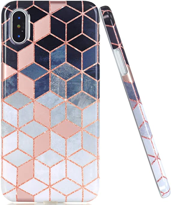 Pink And Grey Gradient Cubes iphone 11 case