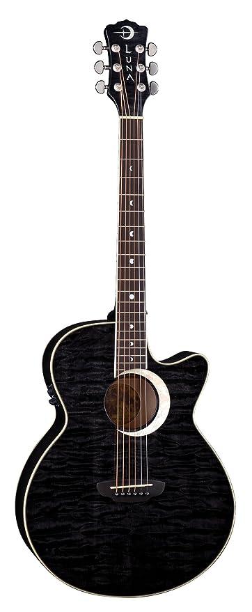 Luna Fauna Series Eclipse Cutaway Acoustic-Electric Guitar: Amazon ...