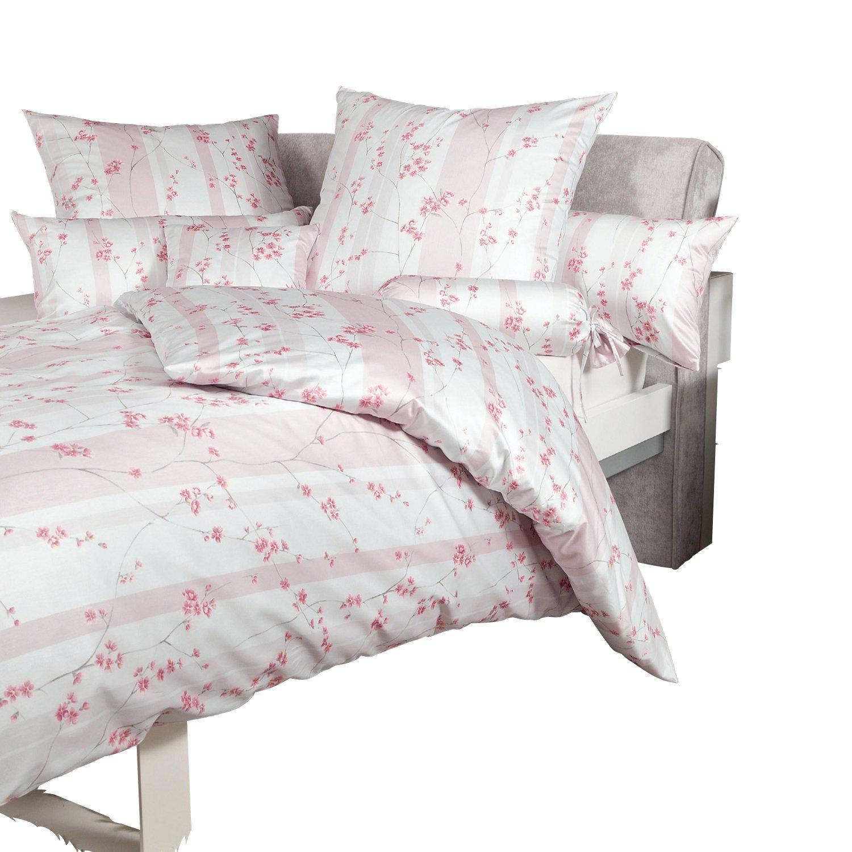Janine Design Interlock Feinjersey Bettwäsche Carmen 53043-01 Rosé 155x200 cm + 80x80 cm