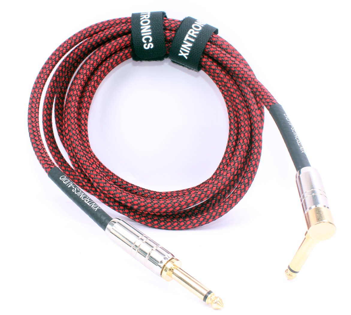 Amazon.com: XINTRONICS Guitar Instrument Cable - 1/4 Inch TS to Instrument Cable, Gold 1/4