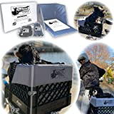RuffLyfe DIY Crate Conversion/Bike Dog Carrier Package (Crate NOT Included) Padded Liner is 2 Sizes in One + 4 Point Safety H