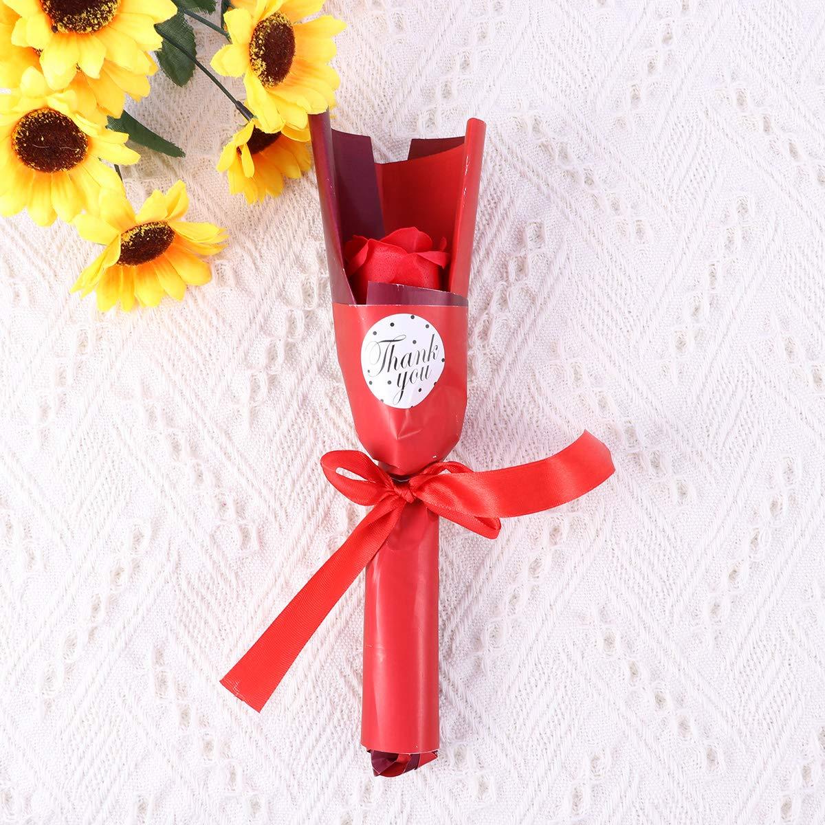 Rojo Amosfun 1pc Rosa jab/ón perfumado Rosa Flor ba/ño Cuerpo jab/ón Planta Aceite Esencial jab/ón para el d/ía de la Boda Banquete de Boda Aniversario Regalos