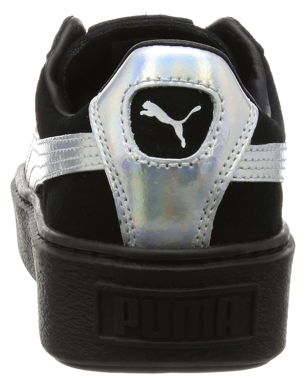 Puma Basket Basket Basket Platform Explosive Damen Turnschuhe Schwarz 8fb0ac