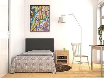 LA WEB DEL COLCHON Cabecero de cama tapizado acolchado juvenil Julie 115 x 55 cms.