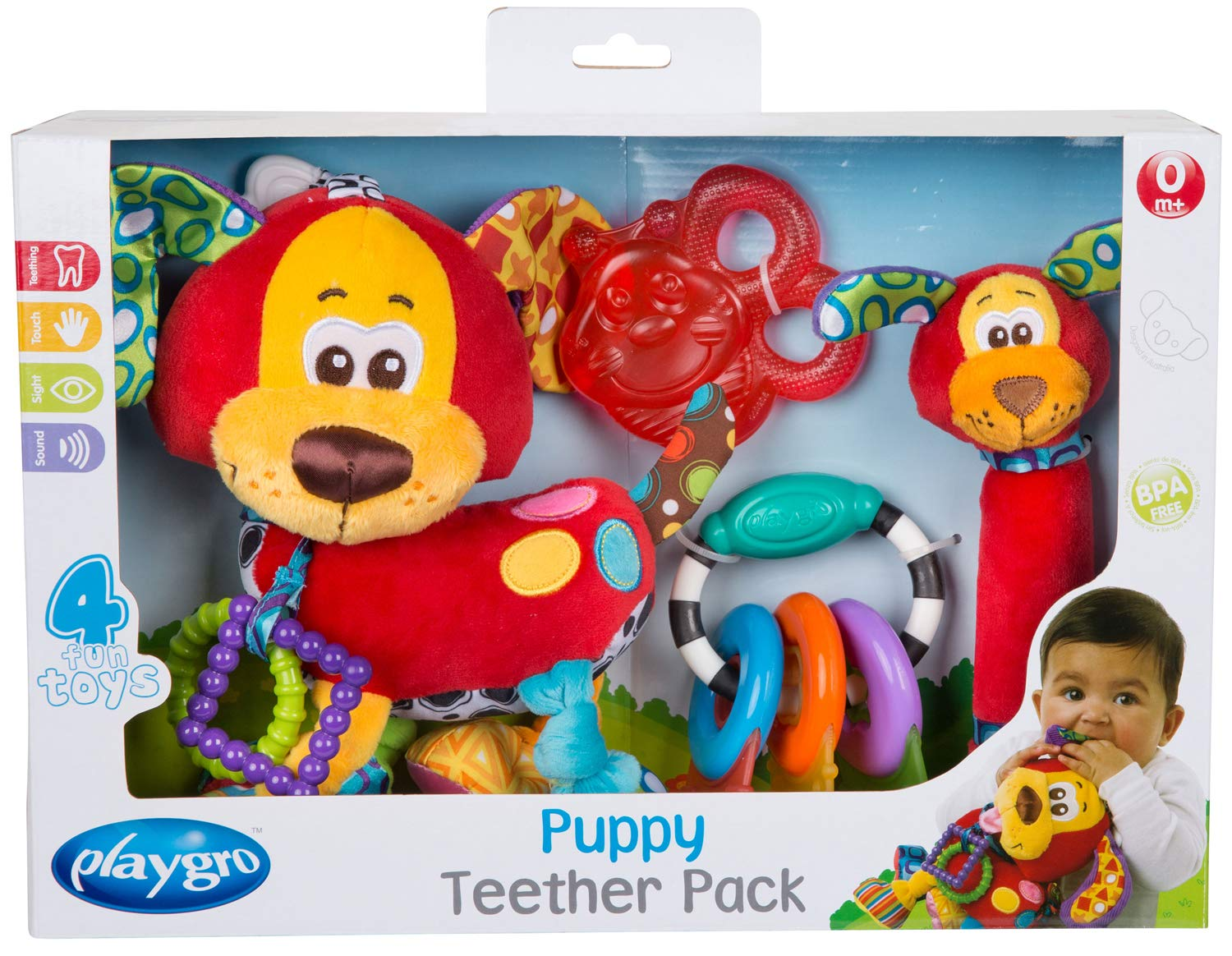 Playgro 0183171 - Set de mordedores, diseño Puppy product image