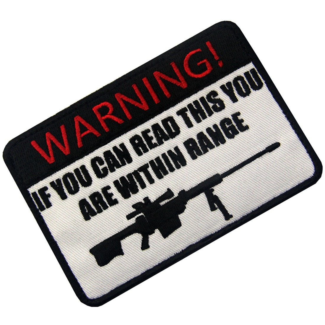 If You Can Read This You Are Within Range Tactical Military Morale Applique Fastener Hook /& Loop Patch