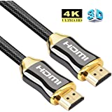 4K HDMI Cable Ultra HD Premium V2.0 3D High Speed with Nylon Crystal Net Zinc Alloy Hood Gold Plated (1M)