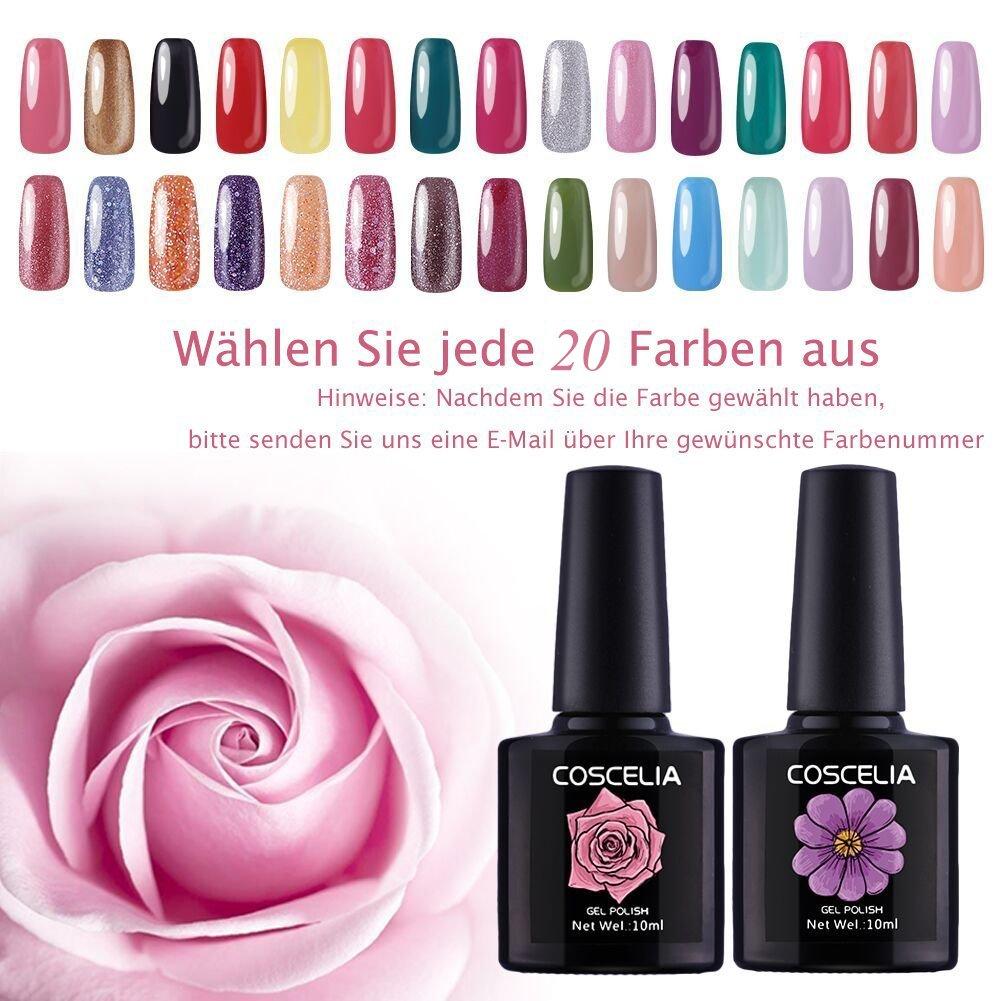 Coscelia UV Nagellack Set 20 Farben wählen UV Gellack Polish ...