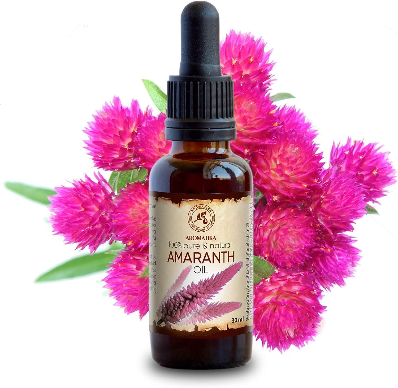Aceite de Amaranto 30ml - Prensado en Frío - Aceite de Amaranto 100% Puro y Natural - Amarantyus Aceite de Semillas - Amaranto - Cuidado Intensivo para la Cara - Cuerpo - Cabello