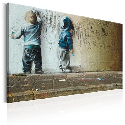 Canvas Art Design Banksy Graffiti Street Art Canvas Print Abstract Wall Pictures For Living Room Bedroom Office Home Decor Decorations Artwork Large