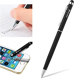 INSTEN 2-in-1 Capacitive Touch Screen Stylus Ballpoint Pen Compatible with iPhone 11/11 Pro/11 Pro Max/X/XS/XS Max/XR/7/6/6S, Galaxy S10/S10 Plus/S10e/S9/S9+ Plus/S8/S8+/Note 8 9, Black