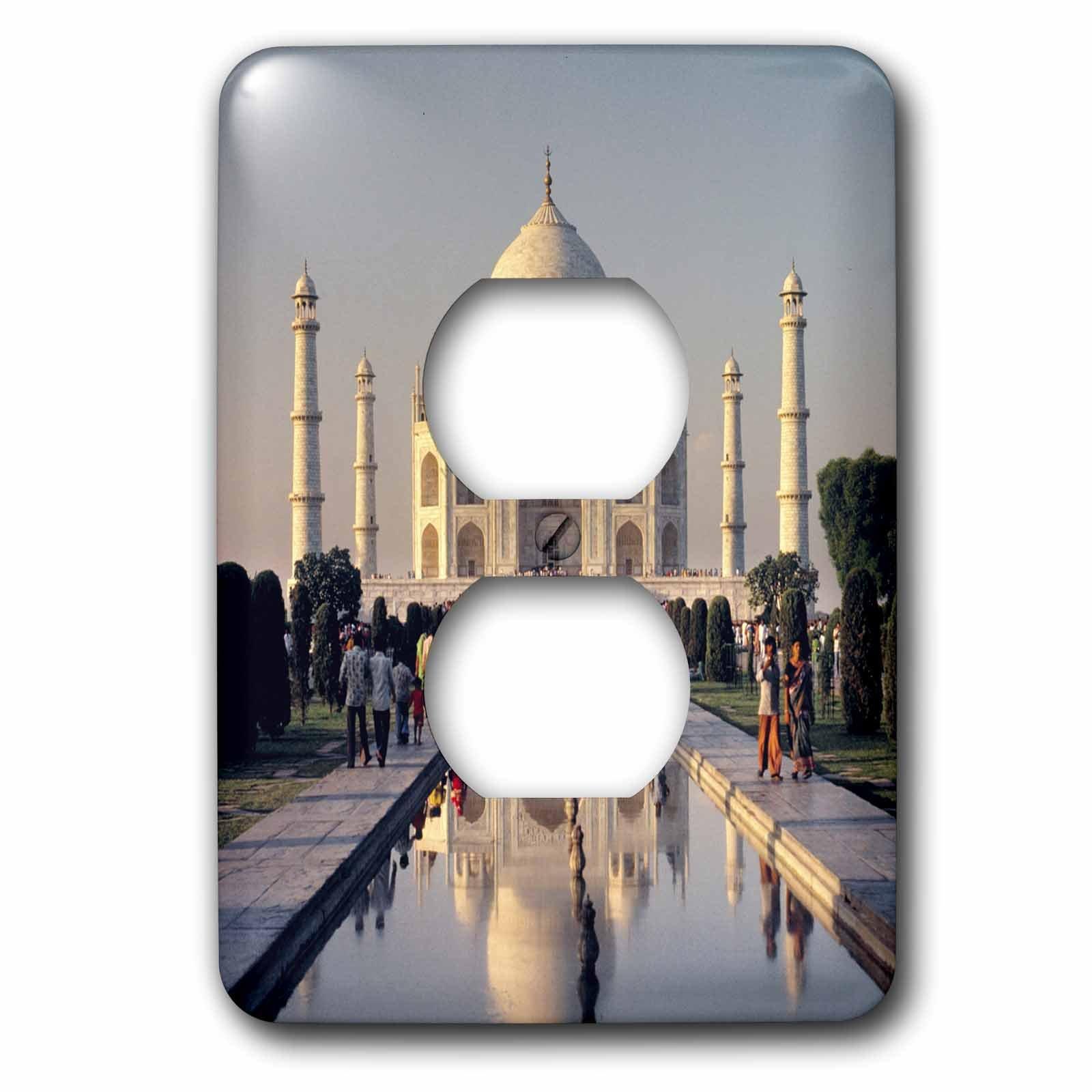 3dRose LLC lsp_75432_6 India, Uttar Pradesh, Agra, Taj Mahalas10 Rer0032 Ric Ergenbright 2 Plug Outlet Cover