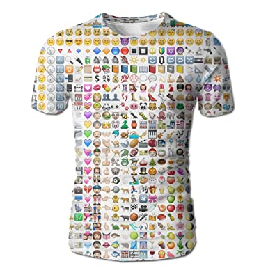 Amazon.co.jp: 大人 男 半袖Tシャツ 絵文字 可愛い ソフト シャツ スポーツ 通勤 White SizeL 服&ファッション小物