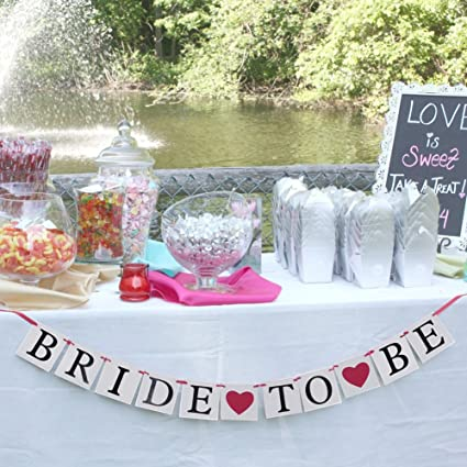 bride to be banner bridal shower decoration wedding sign wedding photo props