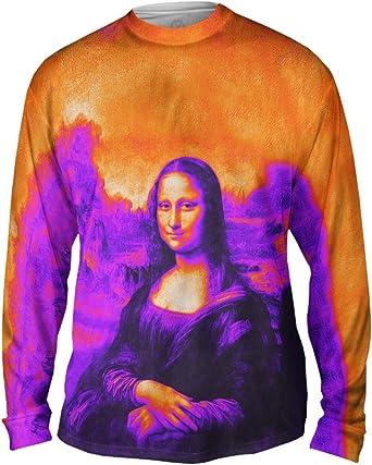 Mens Long Sleeve 2326 Yizzam Da Vinci Mona Lisa Black Pop Art
